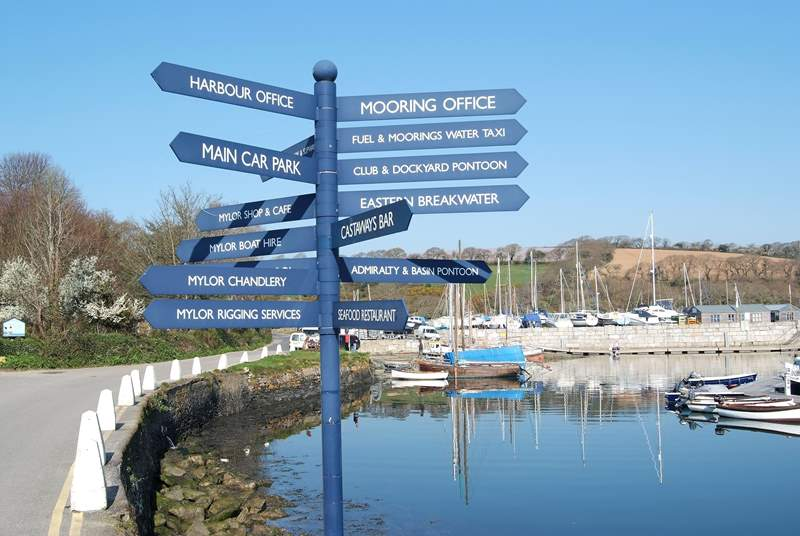 You can't get lost in Mylor Yacht harbour!