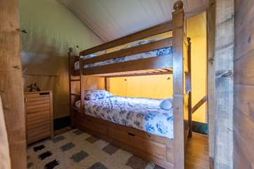 The cheerful bunk-room.