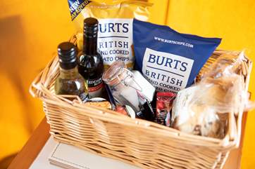 The owner kindly provides a wonderful hamper, for guests that are staying 7 nights or more.
