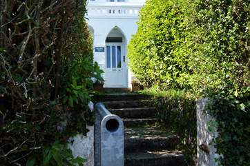 The rear door of the main building opens onto steps down to the coastal path with a short walk to the pub or your access into the building if you want to avoid the steps.