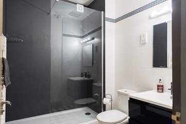The gorgeous bathroom with walk-in double shower.
