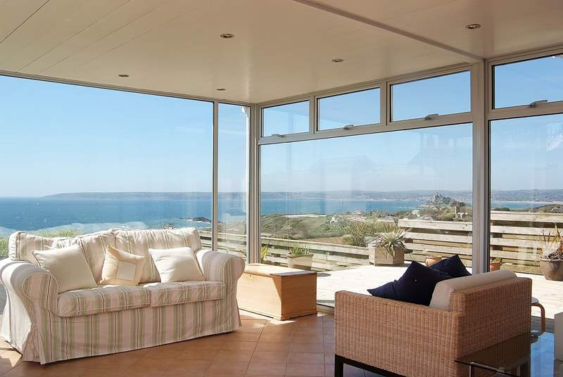 A sunny sitting-room from which to enjoy the views.