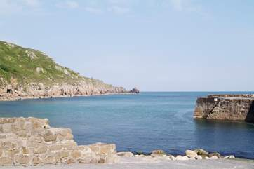 Lamorna Cove is ideal for a cliff walk and is only seven miles away.