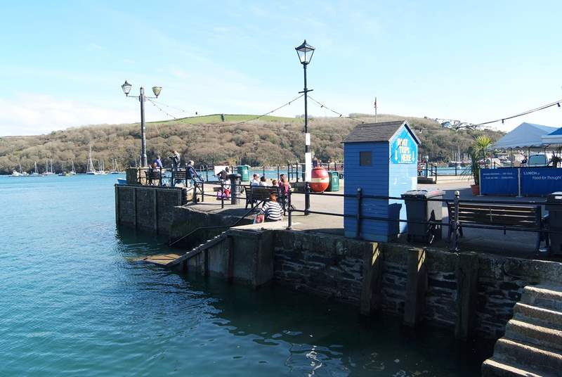 The seafront in Fowey is just a minute's walk from The Salt Store, a hive of activity with restaurants, pubs, shops and boat trips departing regularly.