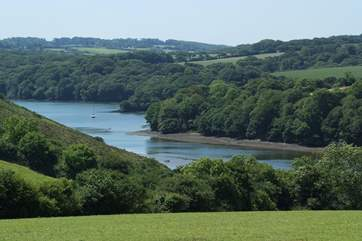 The views around the Helford river are spectacular.