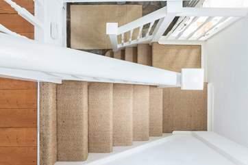 The stairs between floors.
