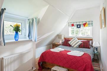 Bedroom 2 is furnished with a double bed, please be aware of the sloping ceilings when getting in and out of bed.