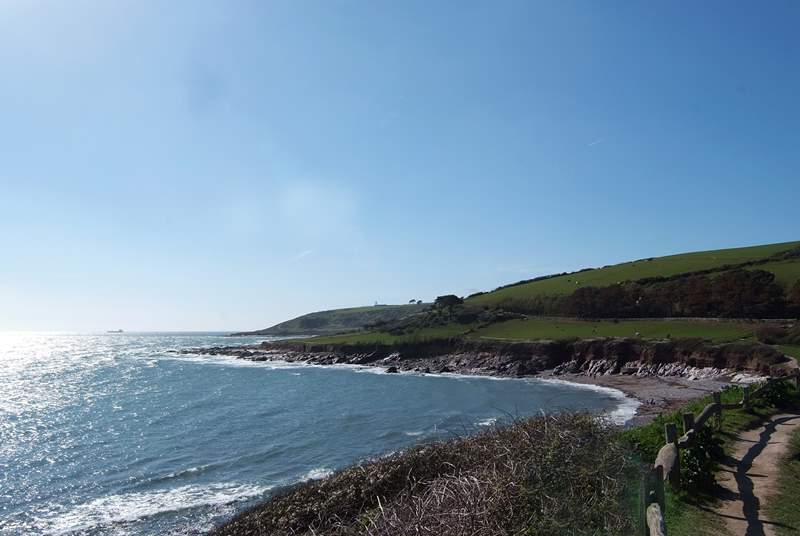 Looking west from the car park at Wembury beach.