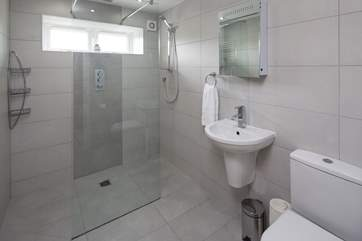 The shower-room on the lower ground floor.
