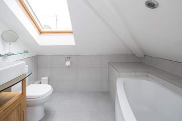 The en suite bathroom to Bedroom 2 - take care on the low lintel.
