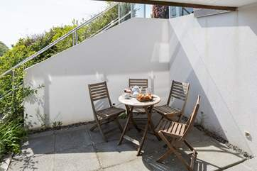 Straight out of your bedroom onto your private patio, the perfect place to treat yourself to a spot of breakfast.
