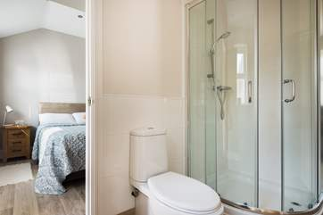 The ground floor bedroom has direct access to the shower-room which can also be accessed through the utiltiy so remember to knock!