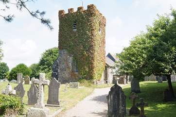 The pretty church in Ruan Minor is a few minute's walk up the hill from the house and past the village shop on the way.