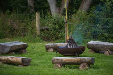 The fabulous communal fire-pit area.