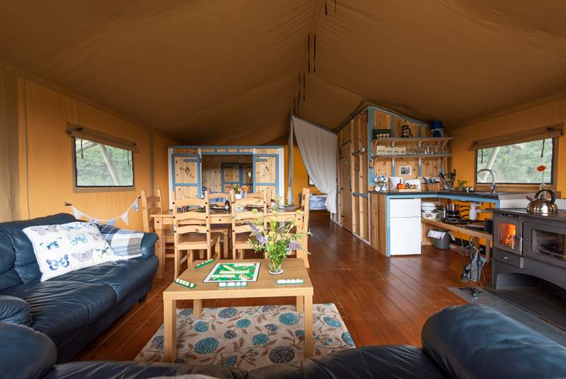 Open plan and plenty of space for everyone.