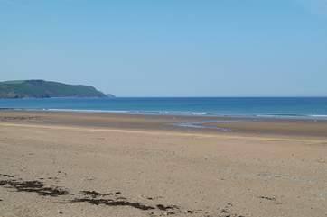The beach at Bude is a surfers paradise and is just a 40 minute drive away.