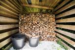 There are plenty of logs for the wood-fired range.