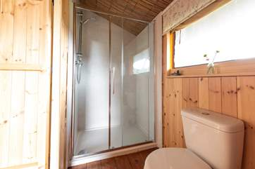 And a large shower cubicle.