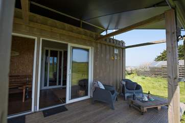 Relax on Rusty's deck and enjoy the sights and sounds of the countryside.