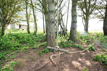 The rope swing will keep the children entertained in the great outdoors.