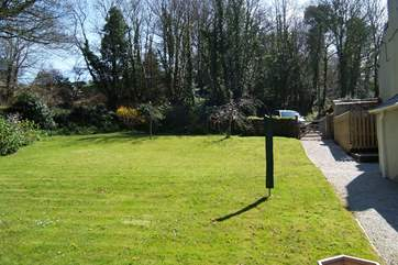 This large garden is private to the cottage with a short walk from the parking space shown on the top right of the photograph.