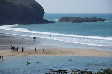 The fabulous beach at nearby Portreath has something for everyone, whether you like to build sandcastles or surf the waves!