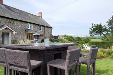 Or eat al fresco in the beautiful garden - after a dip in the hot tub.