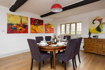 This is the perfect holiday home for a very special celebration or simply to enjoy each other's company over a long evening meal. Ask about the special catering that can be arranged for you by the ow