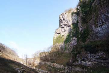 The  Mendip Hills are home to some spectacular scenery. This is Cheddar Gorge, but the lesser known Ebbor Gorge is also nearby.