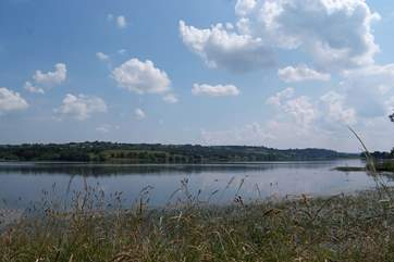 This is the Blagdon Reservoir just a few miles away - a beautiful place for a walk.