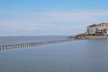 The north Somerset coast is an easy drive to the West. This is the boardwalk at Weston-super-Mare.