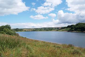 This is Wimbleball Lake nearby, for lakeside walks.