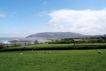 This is a view of Exmoor meeting the coast near Porlock.