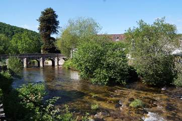 The pretty little market town of Dulverton is just four miles away from Skilgate - this is the river Barle as it passes through Dulverton.