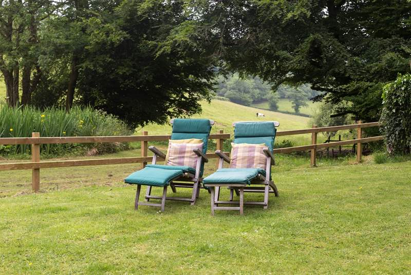 There is a really large garden with views all the way down the valley - turn the sun loungers around and watch the setting sun.