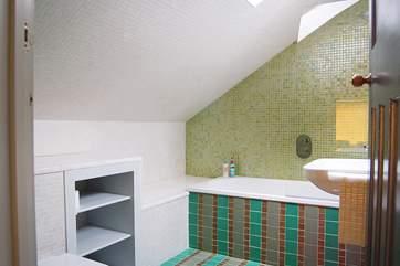 The en suite bathroom to Bedroom 3.
