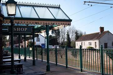 The Seaton Tramway station is just at the bottom of the road. There is a handy cafe here too.
