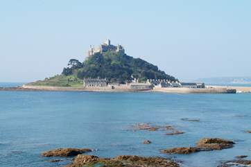 The magestic St Michael's Mount can be seen from just around the corner of The Hideaway and is a five minute drive or a fabulous walk along the South West Coast Path.