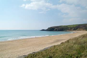 The long stretch of sand at Praa Sands is just a five minute drive away (or a lovely walk along the South West Coast Path).