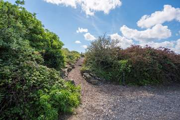 This is the path to your superb sitting area with a spectacular view.