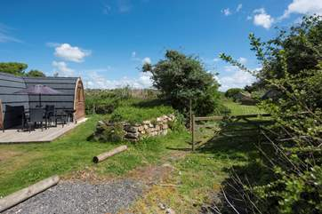 The Owners have a small enclosed meadow next door to The Hideaway which you are welcome to use.