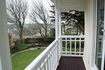 And your very own balcony overlooking the garden.