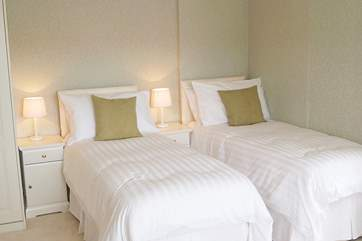 Bedroom 2 can also be made up as a 5' double bed or two single beds (2'6