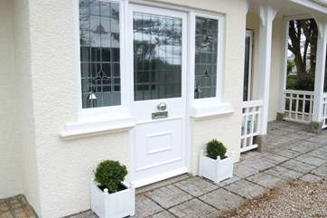 The beautiful entrance porch has been lovingly restored.