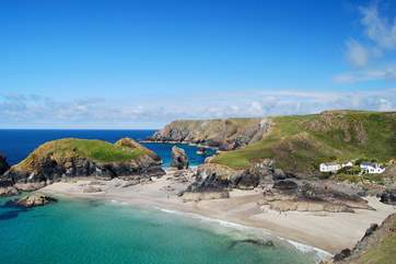 Dramatic and beautiful, Kynance Cove is an exhilarating walk away along the coastal footpath...