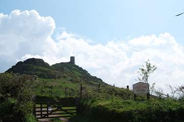 Local landmark, the church of St Michael de Rupe perched on the top of Brentor.