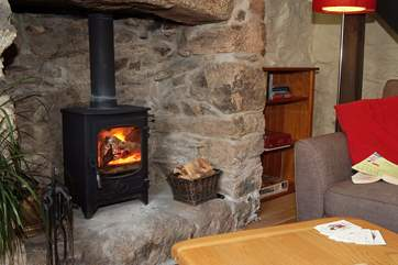 On those cooler evenings the cosy wood-burner will keep you warm.