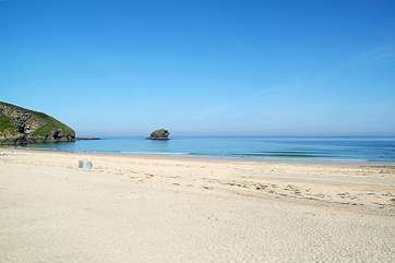 The beach at Portreath.