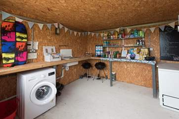 The honesty-shop is set between the two Airstreams and has all the essentials and more on offer.