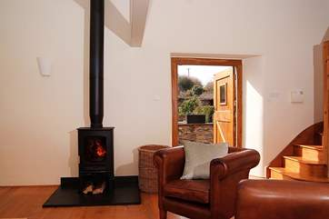 The wood-burner and the under-floor heating make this cottage a great base all year round.